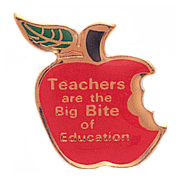 Big Bite Teacher Pins