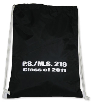 Waterproof Drawstring Shoulder Back Pack with One Color/One Location Imprint