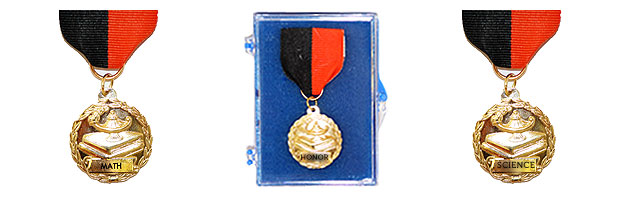 "M27 Medal With Pin Back Ribbon (1 1/8"" )"