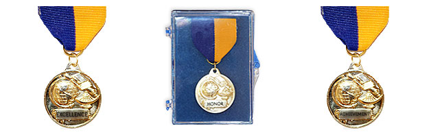 "M64 Medal with Pin Back Ribbon (1 1/4"")"