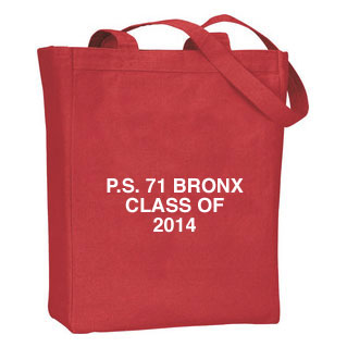 Canvas Tote Bag with One Color/One Location Imprint
